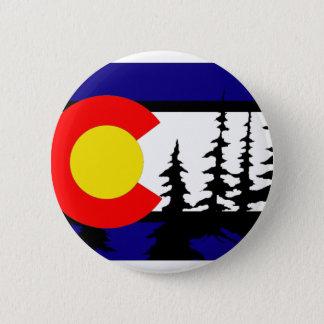 Colorado Flag Tree Silhouette 6 Cm Round Badge