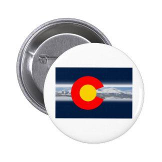 Colorado Flag with Mountains Button