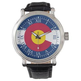 colorado flag wrist watches