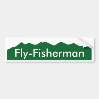 Colorado Fly-Fisherman Bumper Sticker