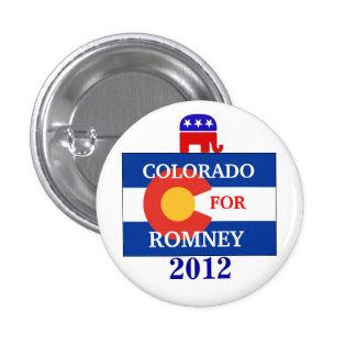 Colorado  for Romney 2012 3 Cm Round Badge