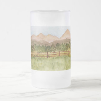 Colorado Frosted Glass Beer Mug