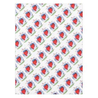 colorado head heart, tony fernandes tablecloth