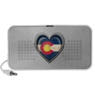 Colorado Heart Flag Stainless Steel Effect iPhone Speaker