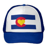 Colorado Heart Flag Trucker Hat