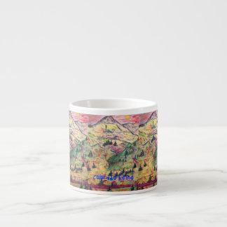 colorado hiking art espresso mug