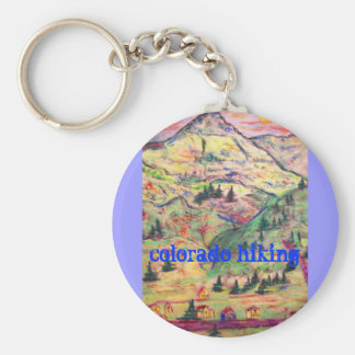 colorado hiking basic round button key ring