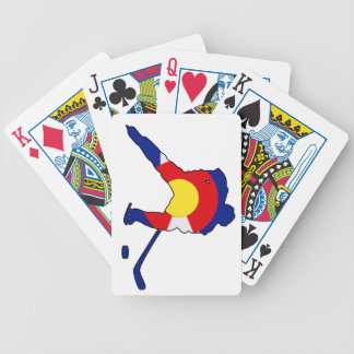 Colorado Hockey Player Bicycle Playing Cards