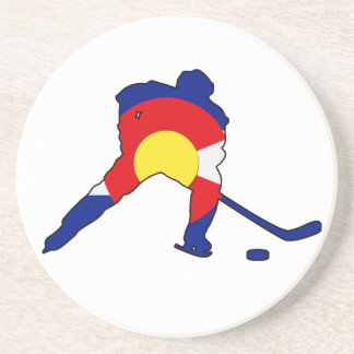 Colorado Hockey Player Coaster