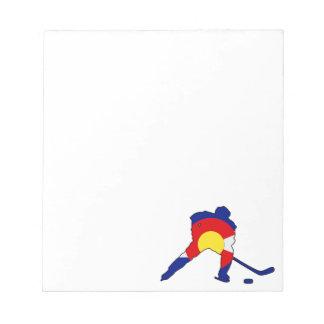 Colorado Hockey Player Notepad