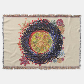 Colorado Holiday Throw Blanket by Donna Moon