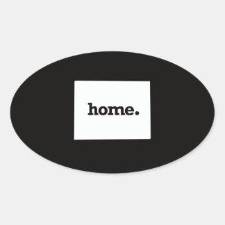 Colorado Home Oval Sticker