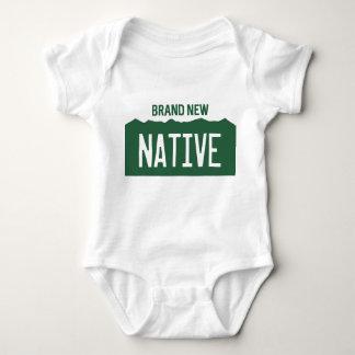 "Colorado License Plate Baby ""Brand New Native"" Baby Bodysuit"