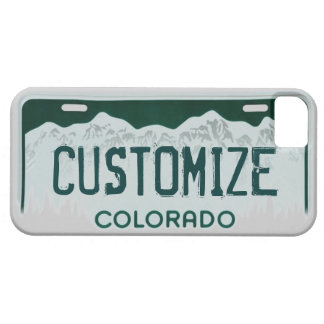 Colorado license plate customizable iphone 5 case