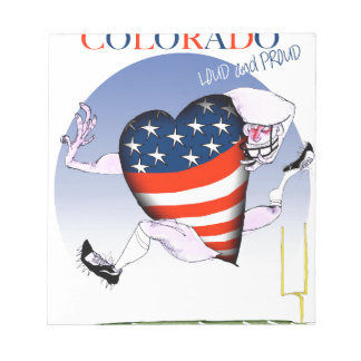 colorado loud and proud, tony fernandes notepad