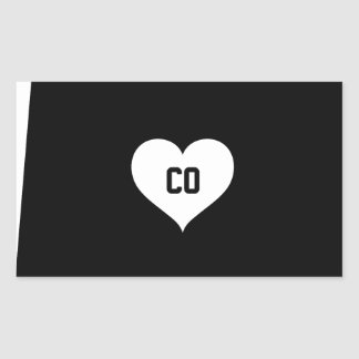 Colorado Love Rectangular Sticker