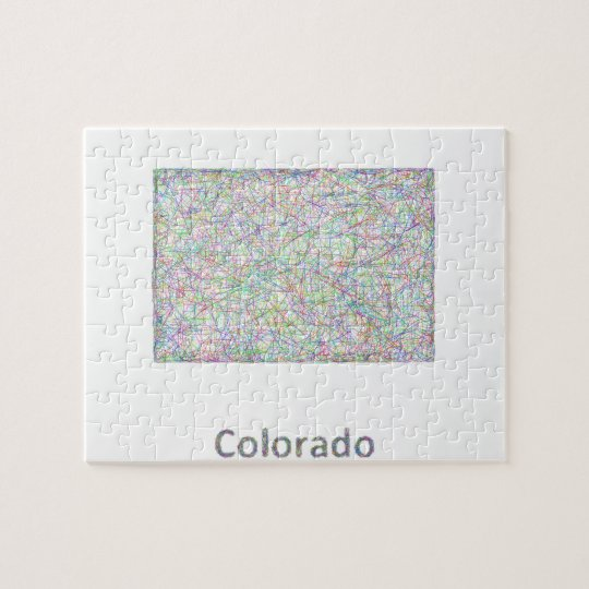 Colorado map jigsaw puzzle