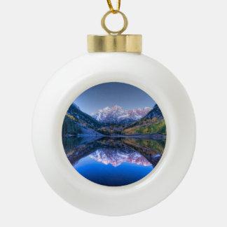 Colorado Maroon Bells Christmas Ornament - Ball