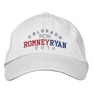 Colorado Mitt Romney Paul Ryan 2012 Embroidered Hat
