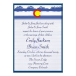 Colorado mountain flag custom wedding invitations