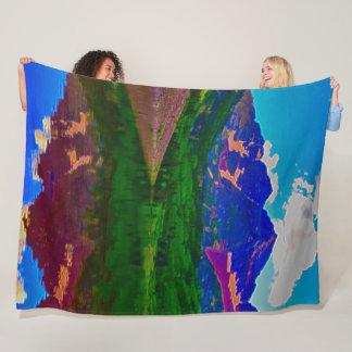 Colorado Mountain Range Beautiful Acrylic Art Fleece Blanket