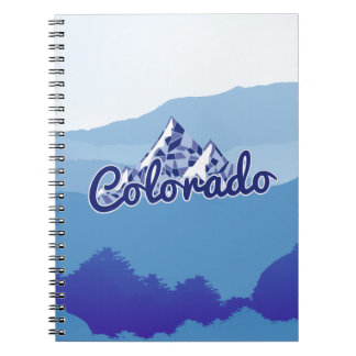 Colorado Mountain Spiral Note Books