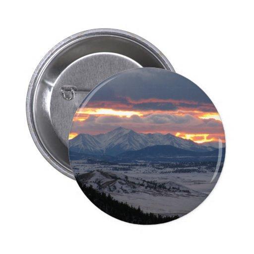 Colorado Mountain Sunset Button