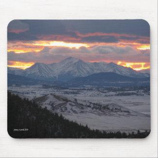 Colorado Mountain Sunset Mousepad