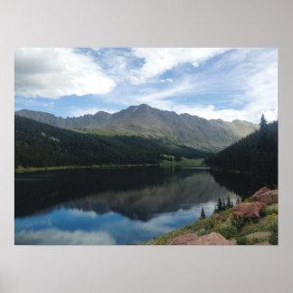 Colorado Mountains and Lake Reflection Poster