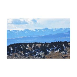 Colorado Mountains view Canvas Print
