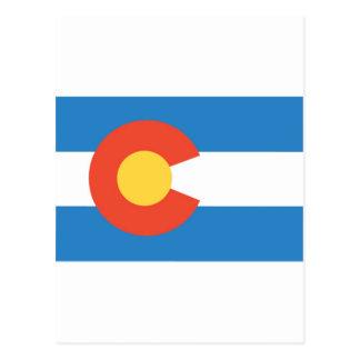 Colorado  Official State Flag Postcard