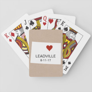 Colorado Personalised Town Playing Cards