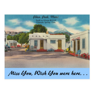 Colorado, Pikes Peak Motel Postcard