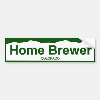 colorado plate new - Home Brewer Car Bumper Sticker
