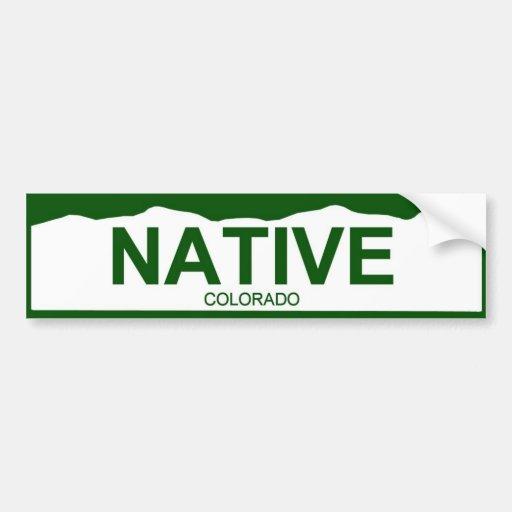 colorado plate new - NATIVE Car Bumper Sticker