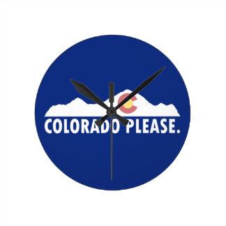 Colorado Please Round Clock