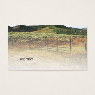 Colorado prairie business card