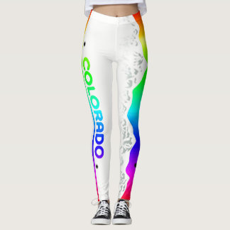 Colorado Rainbow Tag 90 degree full bleed centre Leggings