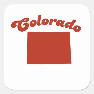 COLORADO Red State Sticker