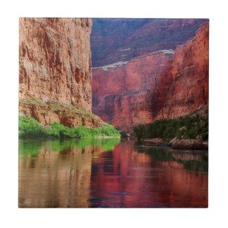 Colorado river in Grand Canyon, AZ Small Square Tile