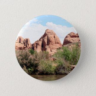 Colorado River near Moab, Utah 1 6 Cm Round Badge