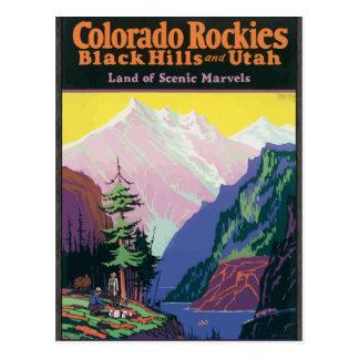 Colorado Rockies Blackhills, \Utahs Scenic Marvels Postcard