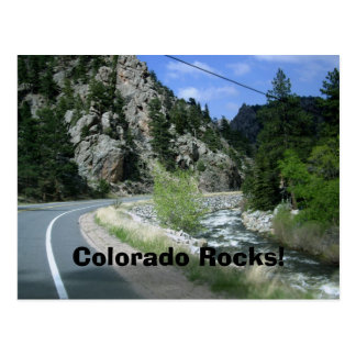 Colorado Rocks Postcard - Big Thompson Canyon