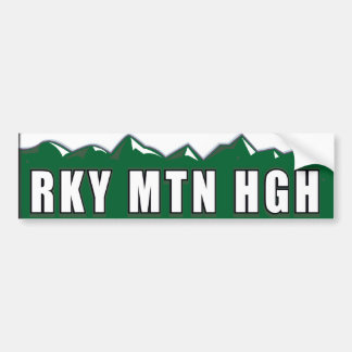 Colorado Rocky Mountain High Bumper Sticker