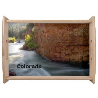 Colorado Rocky Mountain Stream Serving Tray