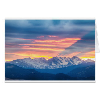 Colorado Rocky Mountain Sunset Waves Of Light Part Card