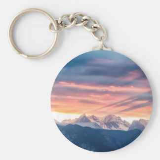 Colorado Rocky Mountain Sunset Waves Of Light Pt 2 Key Ring