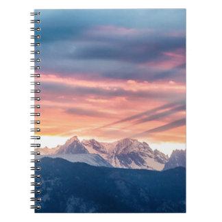 Colorado Rocky Mountain Sunset Waves Of Light Pt 2 Notebook