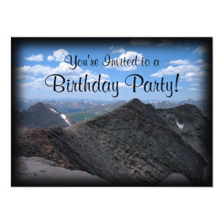 Colorado Rocky Mountains Moonscape 17 Cm X 22 Cm Invitation Card
