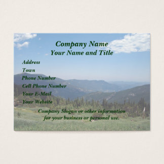 Colorado Rocky Mountains Panorama Business Card
